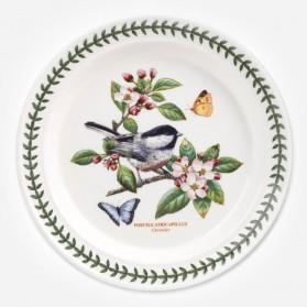 Botanic Garden Birds 10 inch Dinner Plate Chickadee