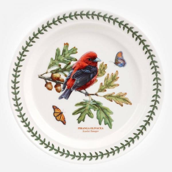 Botanic Garden Birds 10 inch Dinner Plate Scarlet Tanager