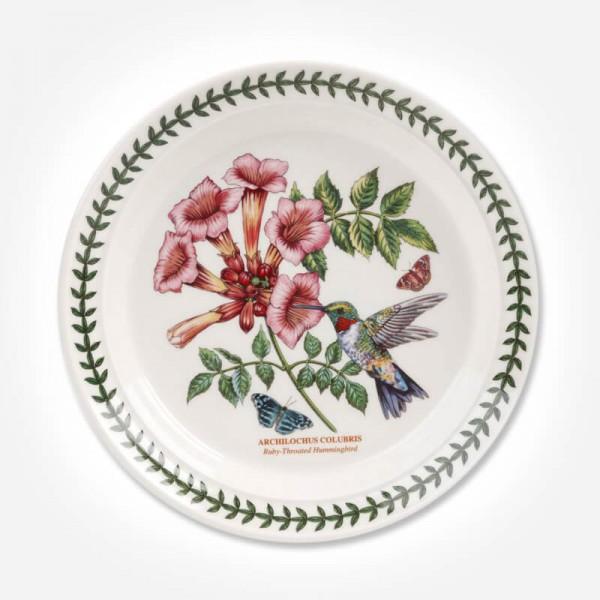Botanic Garden Birds 8 inch Plate Ruby Hummingbird