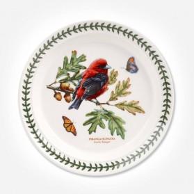 Botanic Garden Birds 8 inch Plate Scarlet Tanager