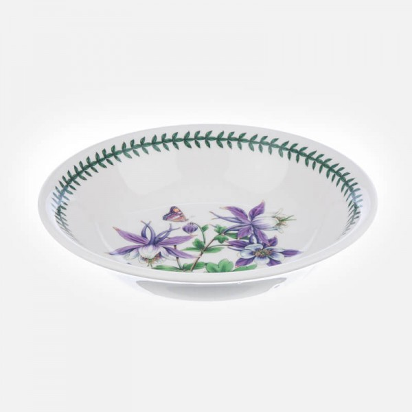 Exotic Botanic Garden 8 inch Pasta Bowl Bird of Dragonfly