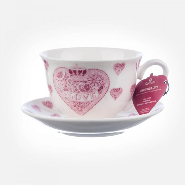 Made with Love Tea cup & Saucer