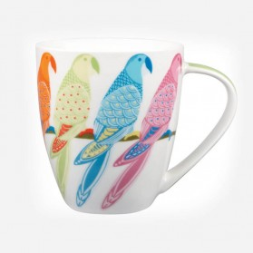 Queens Couture PARADISE BIRDS Parrot Mug