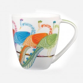 Queens Couture Paradise Birds Peacock Mug