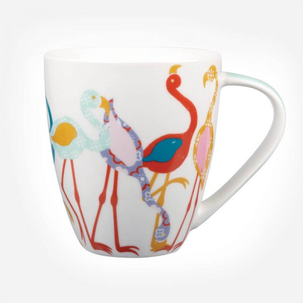 Queens Couture Paradise Birds Flamingo Mug
