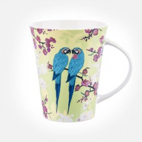 Queens Lemon Grass Parrot Flowers Mug
