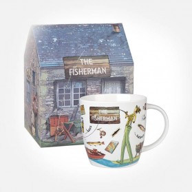At Your Leisure The Fisherman mug in giftbox