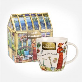At Your Leisure The Lady Gardener mug in giftbox