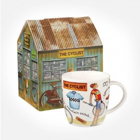 At Your Leisure The Cyclist mug in giftbox