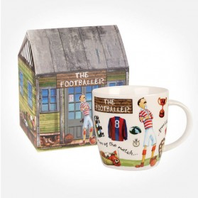 At Your Leisure The Footballer mug in giftbox