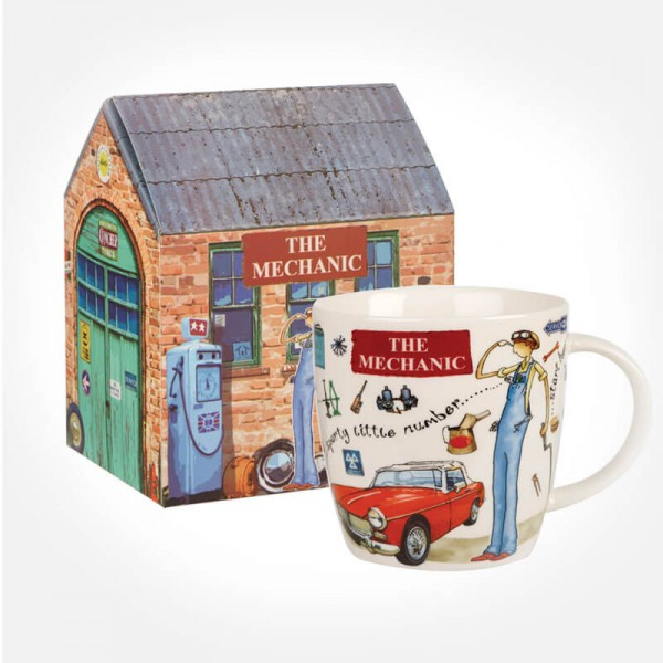 At Your Leisure The Mechanic mug in giftbox