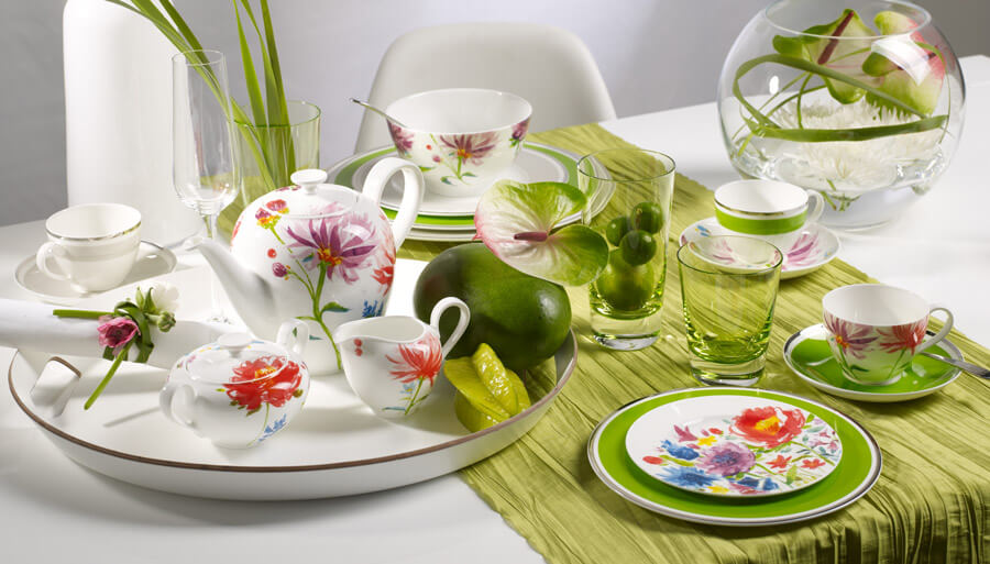 Villeroy & Boch Anmut Flowers Range Of Tableware