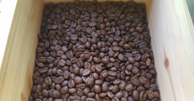 Coffee bean Roasting result