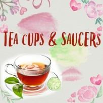 Tea Cups and Saucer Set