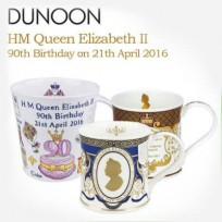 HM Queen Elizabeth II 90th Birthday mugs