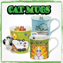 Bone China Cat Mugs