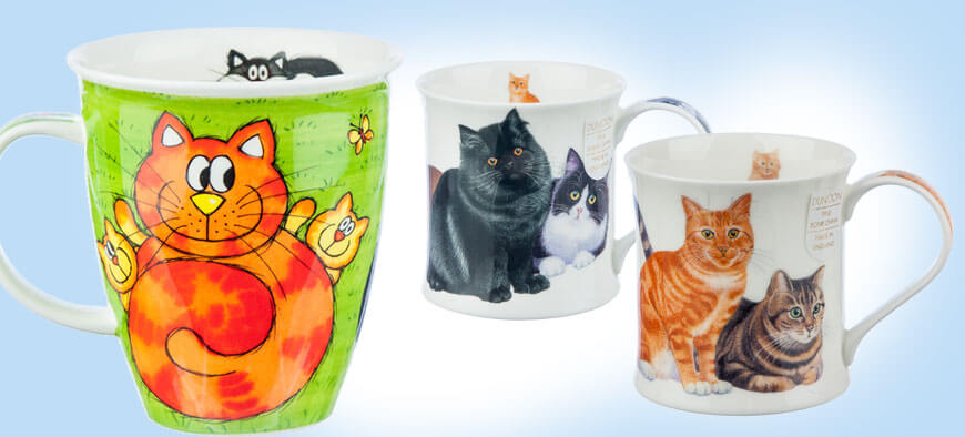 bone china cat mugs uk
